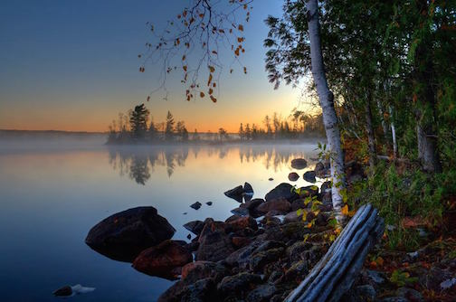 October Morn.Cold and Crisp. Devil Track Lake. by Don Davison.