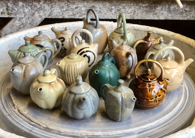 Teapots by David Voorhees.