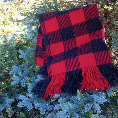 Mary MacDonald's handwoven blanket is at Kah-Nee-Tah Gallery in Lutsen.