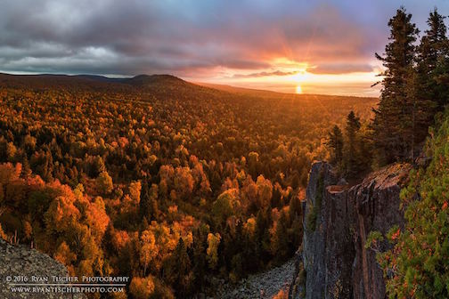 Sunrise from Oberg Mountain by Ryan Tischer.