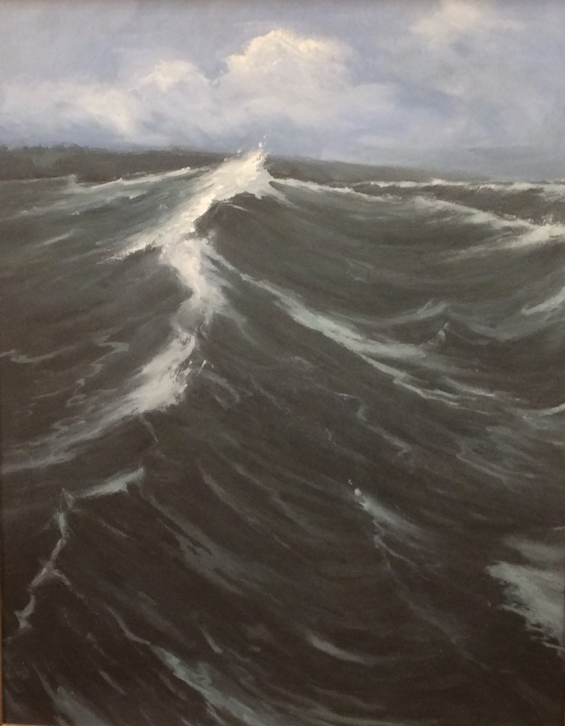 """The Wave,"" oil, by Mary Jo Van Dell."