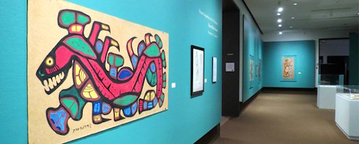 Work by Norval Morrisseau is featured at the Thunder Bay Art Gallery.