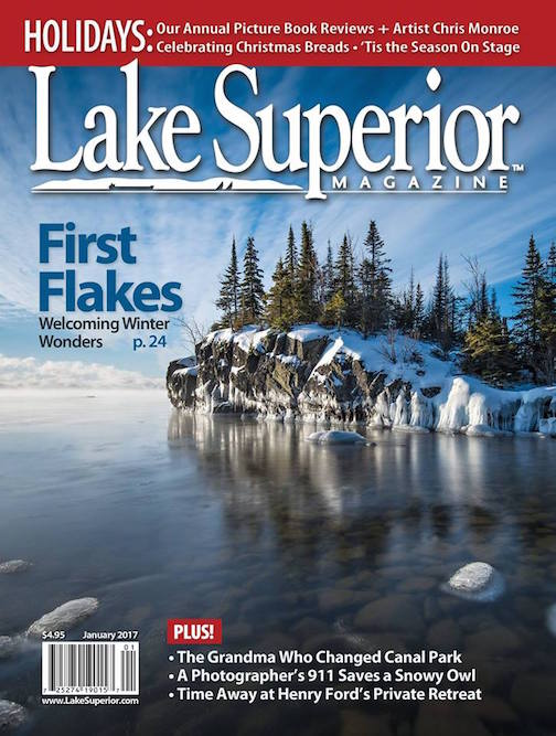 A photograph by Bryan Hansel is on the cover of the latest issue of Lake Superior Magazine.