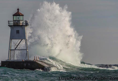 David Johnson caught this spectacular explosion over the breakwall the other day.