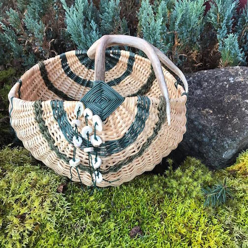 Antler basket by Cathryn Peters.