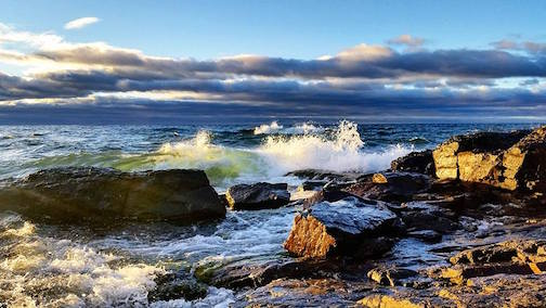 Lake Superior at Artist Point by Kjersti Vick.