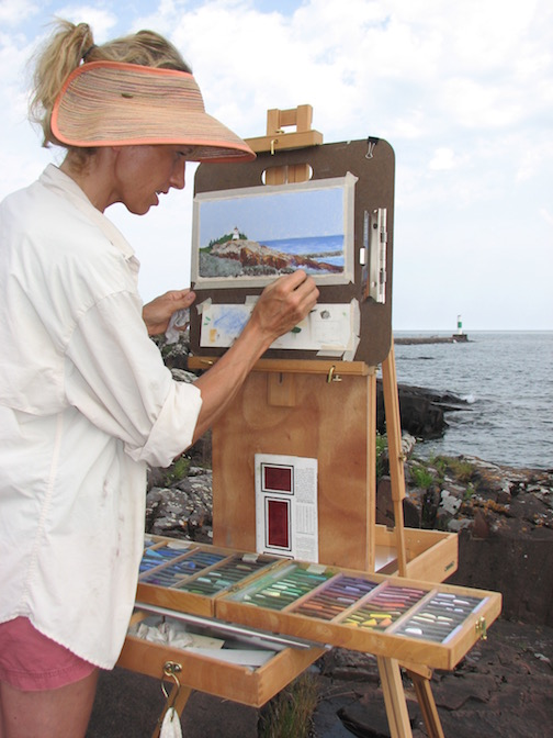 Plein Air painter, Kristin Blomberg, will give a painting demo at Last Chance Gallery at 3 p.m.