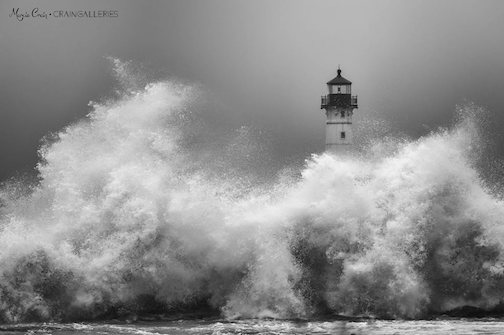 Lighthouse craziness by Margie Crain.