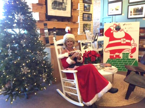 Mrs. Claus visits Sivertson Gallery on Friday and Saturday.
