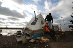 The Harborside Winter Tent Camp is one of the features of Winterer's Gathering.