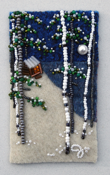 Bead artist Jo Wood exhibits at Last Chance Gallery.