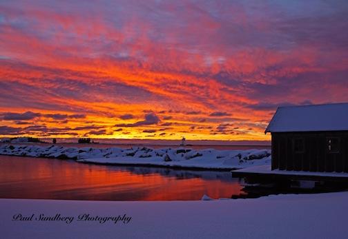 Grand Marais Sunrise by Paul Sundberg.
