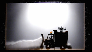 The snow plow! One of the shadow puppets in this year's Winter Solstice Shadow Puppet show.