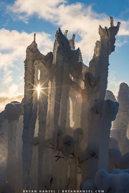 Ice Castle at Cascade River State Park by Bryan Hansel.