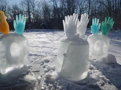 Hand's Up... it's cold outside by Cathy Quinn.