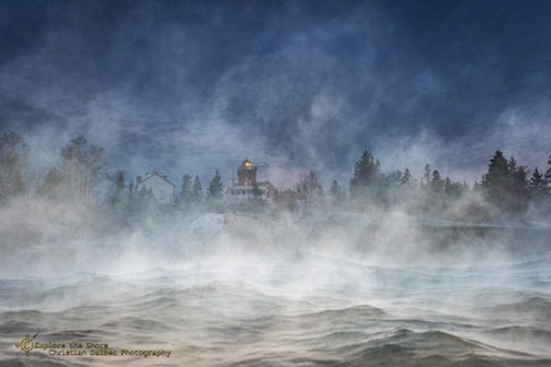 Sea fog in Two Harbors by Christian Dalbec.