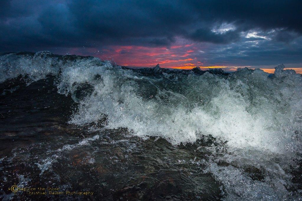 Waves at Dawn by Christian Dalbec.