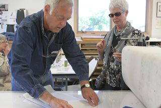 Printmaker Jerry Riach will run a printmaking workshop at the Grand Marais Art Colony on Saturday from 1-3:30 p.m.
