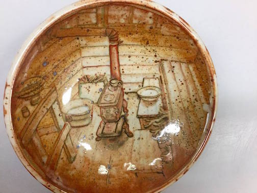 Bowl by Dave Lynas. He is one of the potters showing at the Holiday Pottery Sale in Duluth.