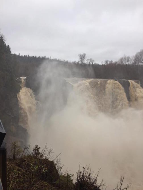 The High Falls at Grand Portage State Park on Tuesday, Nov. 29.