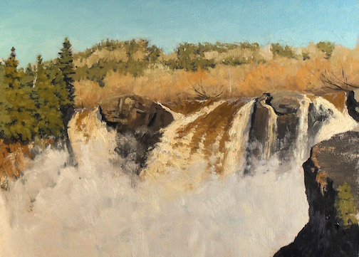 "Neil Sherman's ""High Falls at Spring"" is on exhibit at the Grand Hill Gallery in St. Paul."