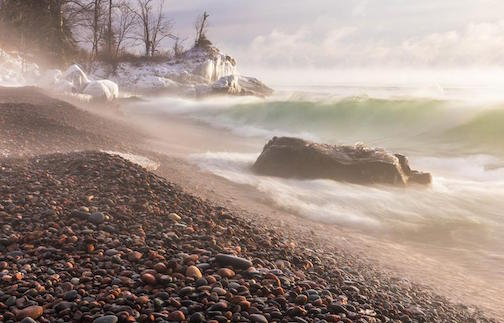 Cold and Steamy Mornings on Lake Superior by Thomas Spence.