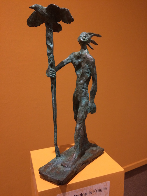 """A Youth (2 of 8), bronze, by John Books."