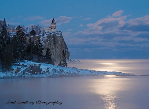 Split Rock Moonrise by Paul Sundberg.