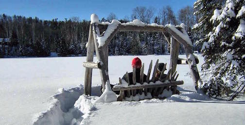 A winter swing. Photo courtesy of Bearskin Lodge.