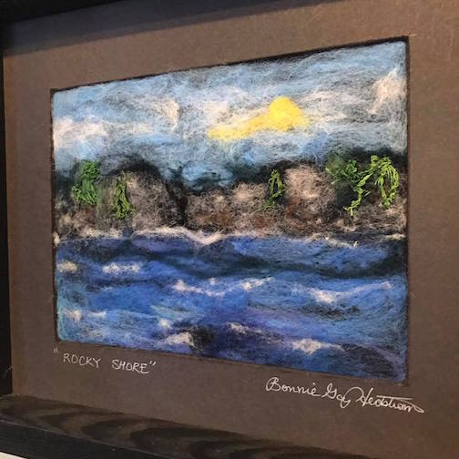 Bonnie Gay Hedstrom has new felted paintings at Kah-Nee-Tah Gallery.