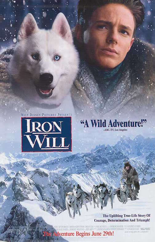 "Walt Disney's ""Iron Will"" will be screened at the library at 6 p.m. Saturday."