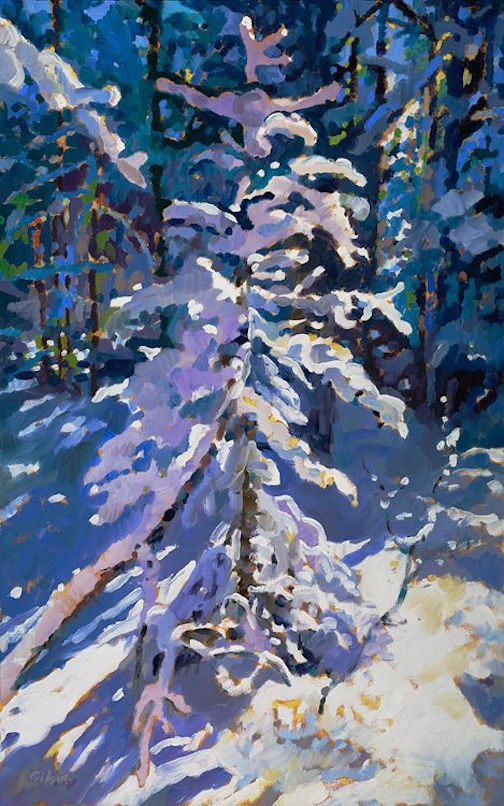 """Spirit of the Season"" by David Gilsvik. The painter has a wide variety of work at Sivertson Gallery."