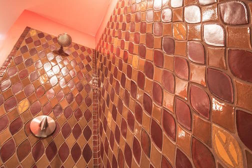 Melissa Wickwire's bath tile surround.