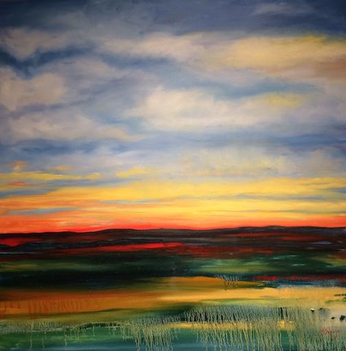 Morning Sky by Heidi Sobanja. acrylic.