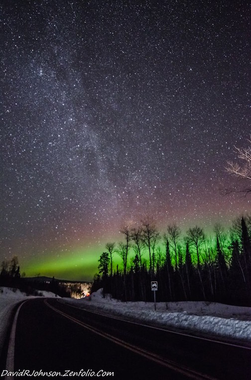 """It's been a long drought of Aurora activity. Nice to see some,"" by David Johnson."