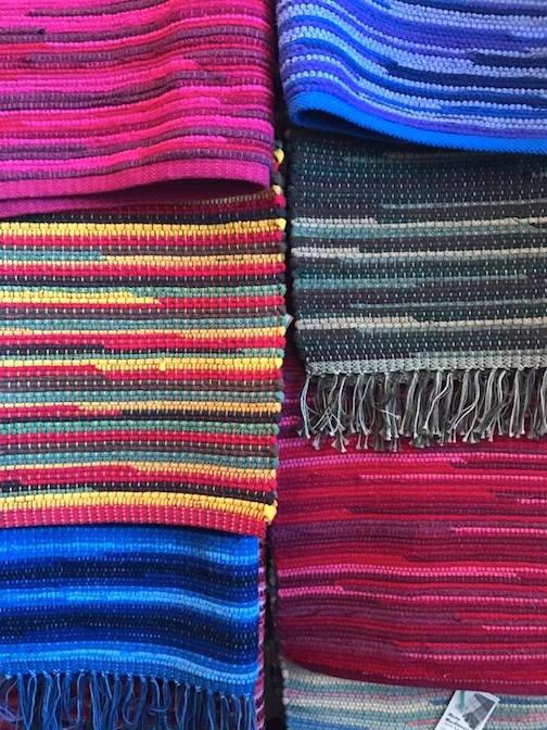 Mary MacDonald has her weaving at Kah-Nee-Tah Gallery.