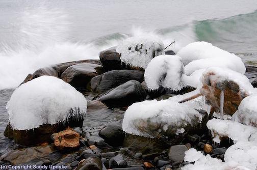 Icy Shoreline by Sandra Updyke.