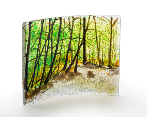 Canadian fused glass artist Jerre Davidson has new work at Sivertson Gallery.
