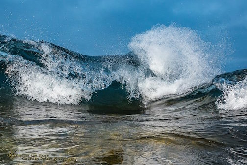 Look into my wave by Christian Dalbec.
