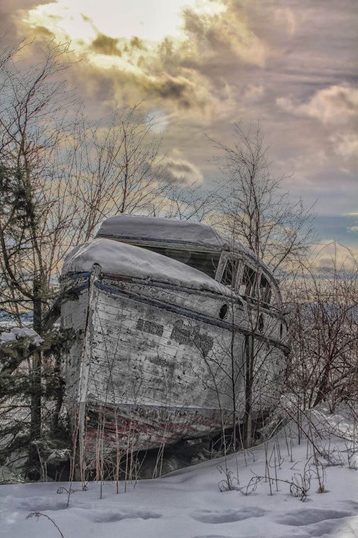 Wintered Wreck by Don Malcolm.