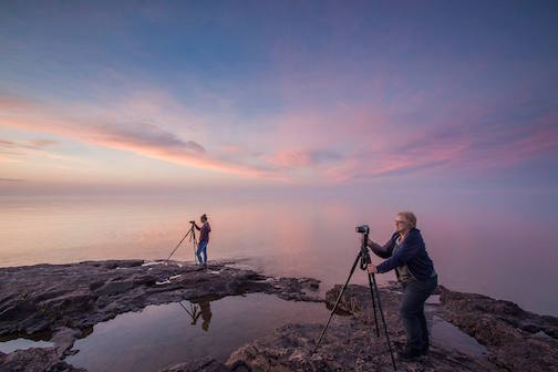 Photographers Bryan Hansel and John Gregor are featured ian article about North Shore photography workshops in this month's Explore Minnesota.