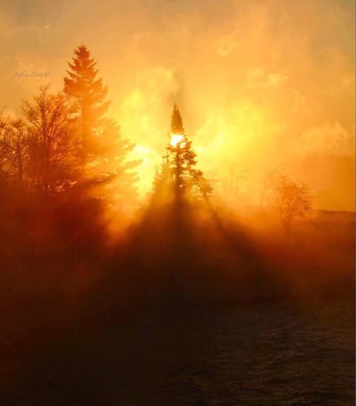 Sunrise in the Sea Smoke by Jeffrey Doty.