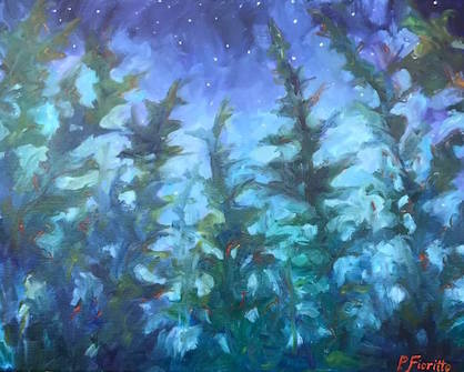 Painter Pam Fioritto has new work at Kah-Nee-Tah Gallery in Lutsen.