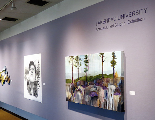 Lakehead University art students are exhibiting at the Thunder Bay Art Gallery.