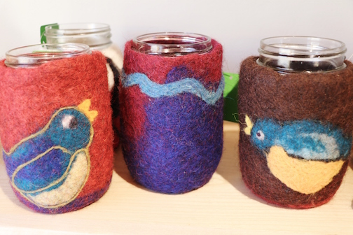 Elize Kylo will teach how to make a felted wood cozy to keep your favorite winter drinks hot.