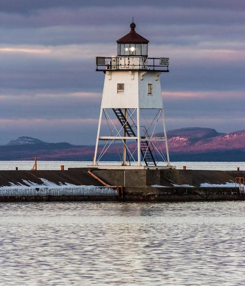 Grand Marais Lighthouse by Thomas Spence.