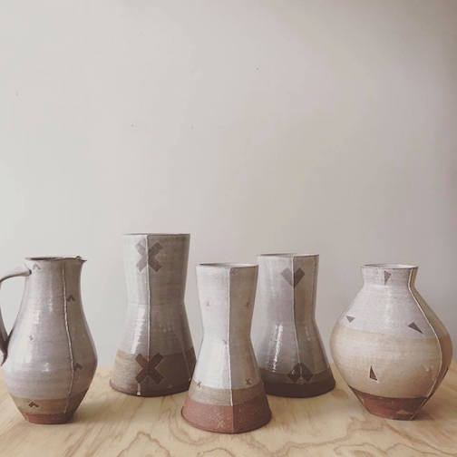 Adam Gruetzmacher's pottery is at Upstate MN.