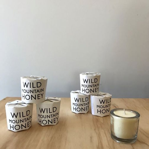 Upstate MN is featuring wild honey candles this week.