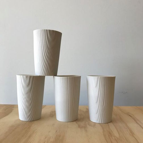 Upstate MN has porcelain wood-grained cups by Edgewood.