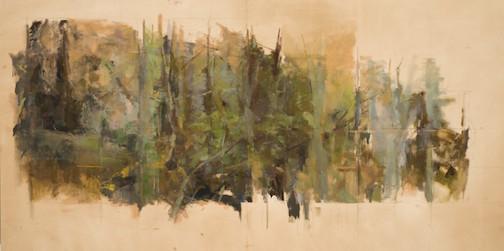 """""""Cedar Grove,"""" oil, by Holly Swift."""